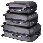 ECO Gray 3 Pcs Luggage Travel Set Bag ABS Trolley Suitcase w/TSA lock 4 Wheels