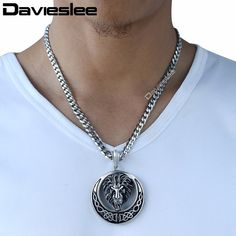 Buy Davieslee Men's Jewelry Lion Head Knot Gold/Silver Stainless Steel Pendant Necklace Chain at Wish - Shopping Made Fun Lion Necklace, Necklace Chain, Pendant Necklace, Necklaces, 316l Stainless Steel, Men's Jewelry, Knots, Celtic, Accessories