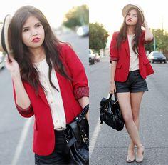 look vermelho e branco!