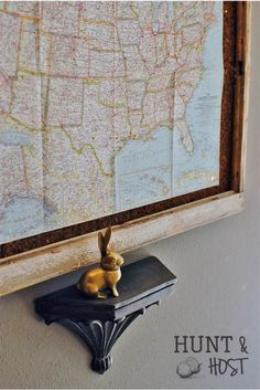 Maps add age and charm to your décor. Track where you've been. www.huntandhost.com