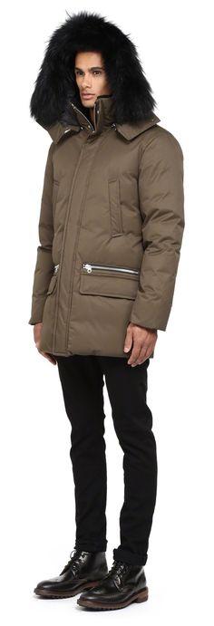 Mackage - STEFANO ARMY WINTER DOWN PARKA FOR MEN WITH FUR HOOD. www.mackage.com #menswear #fw14 #wintercoat #fur #parka #luxuryouterwear