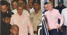 Hours before Canadian pop star Justin Bieber took stage in Mumbai for his maiden concert here he finally arrived in the country at around 1.30 am along with his crew and a big team. The 23-year-old global music sensation was caught on cameras leaving the airport wearing a pink pullover and black bermudas shorts. He was flanked by Bollywood superstar Salman Khans bodyguard Shera who is taking care Biebers security during his stay in India.  Minutes after his arrival pictures and videos of…