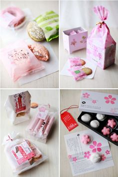packaging from Club Harie; she who eats: sweet in pink, and a little bit salty...