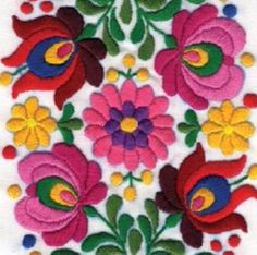 Mexican Embroidery, Hungarian Embroidery, Folk Embroidery, Learn Embroidery, Chain Stitch Embroidery, Hand Embroidery Stitches, Hand Embroidery Designs, Machine Embroidery, Bordado Popular