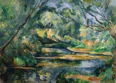 The Brook - Artist: Paul Cezanne Start Date: c.1898 Completion Date:1900 Style: Post-Impressionism Genre: landscape Technique: oil on canvas Dimensions: 59.2 x 81 cm Gallery: The Cleveland Museum of Art, Cleveland, OH, USA