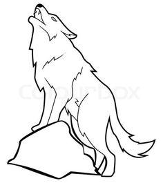 Wolf stock vector