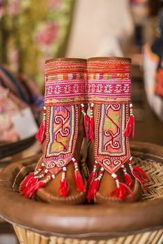 Oh wow! These embroidered, tasselled, boho moccasins are so rad!