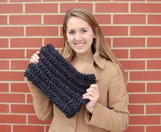 JJCrochet made this quick and easy herringbone style crochet cowl with Lion Brand's Wool-Ease Thick & Quick. You can check out the pattern on her blog.