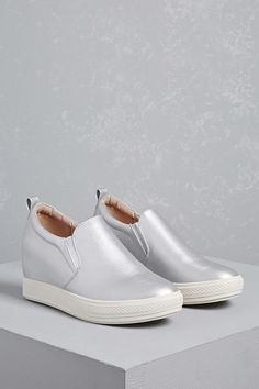 Forever 21 Wanted Wedge Low-Top Sneakers