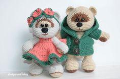 Honey teddy bears in love - free crochet pattern