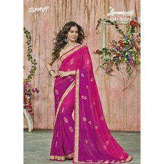 Sarees For Your Parties Patiyala Suit, Lehenga Saree, Chiffon Saree, Buy Sarees Online, Party Wear Sarees, Half Saree, Beautiful Saree, Saree Collection, Magenta