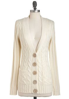 $42.99   Your Fireside of the Story Cardigan in Cream, #ModCloth