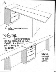 fold-out table / buffet