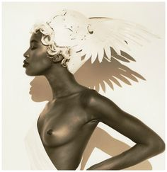 Naomi Campbell, Face in Hand, Hollywood, 1990, Photo Herb Ritts