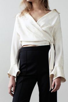 CREATED NR 9 - THE EDGY WRAP TOP