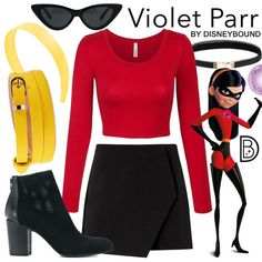 Disneyland Outfit Ideas 2019 - Violet - Incredibles Disneybound - Helen Home Disney Bound Outfits Casual, Cute Disney Outfits, Disney Themed Outfits, Disneyland Outfits, Disney Inspired Fashion, Character Inspired Outfits, Disney Dresses, Cute Outfits, Disneyland Ideas