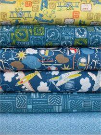 FabricWorm: Fabricworm Giveaway: Camelot Cotton's Take Flight in Dark Blue!