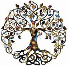 Metal Wall Art Wedding Gift Infinity Tree Heated – Humdinger Designs Tree of Life
