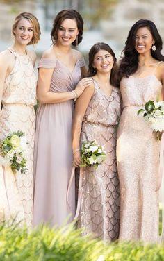 9060 Modern Sequin Bridesmaid Dress by Sorella Vita