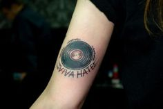 Vinyl record tattoo