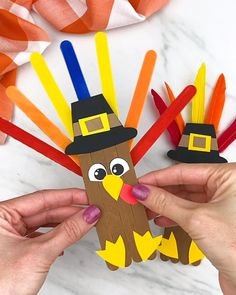 Turkey Popsicle Stick Craft For Kids