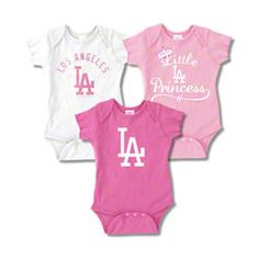 Los Angeles Dodgers Infant Girls Baby Rib Pink Creeper 3-Pack $29.99 http://www.fansedge.com/Los-Angeles-Dodgers-Infant-Girls-Baby-Rib-Pink-Creeper-3-Pack-_-1305630854_PD.html?social=pinterest_pfid66-41730