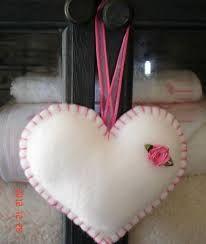 Resultado de imagen para como hacer un corazon de tela