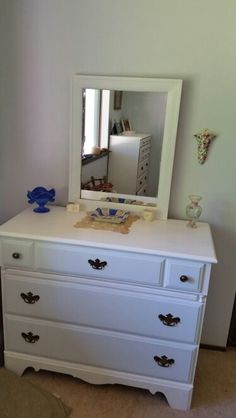 Chalk paint dresser after