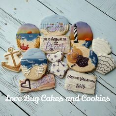 Purple Beach by Love Bug Cakes and Cookies | Cookie Connection