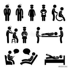 Vektor: Doctor Nurse Hospital Medical Psychiatrist Patient Sick