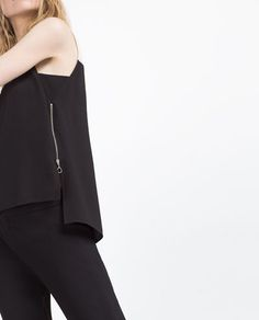 Image 6 of TWO-TONE TOP from Zara
