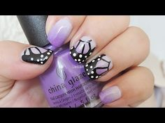 Nail Art - Butterfly Wings for World Lupus Day - Diseño de Uñas - Dia Mundial del Lupus - YouTube