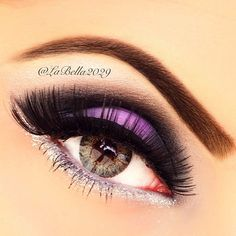 Purple #vibrant #smokey #bold #eye #makeup #eyes