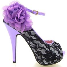Amazon.com: Show Story Sexy Green Black Lace Peep Toe Flowers Stiletto High Heel Platform Shoes, LF30408GR40, 9US, Green: Shoes
