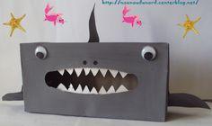 requin réalisé avec une boîte de mouchoir explications sur mon blog http://nounoudunord.centerblog.net/rub-activie-1er-avril-.html