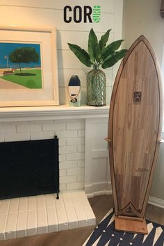 This beautiful bamboo surf stand fits boards of all sizes - including longboards and shortboards. Eco-friendly and adjustable!