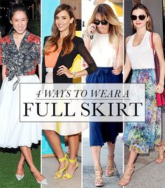 4 stylish ways to wear a full skirt