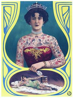 Tattooed Lady #vintage #tattooed #tattoo #InkedMagazine