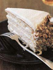 Hazelnut Praline Layer Cake (frost with mocha buttercream? Hazelnut Praline, Praline Cake, Hazelnut Cake, Baking Recipes, Cake Recipes, Dessert Recipes, Dessert Ideas, Easy Desserts, Delicious Desserts