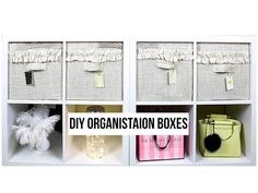 DIY Ikea Kallax Storage boxes | FashionMoksha - YouTube