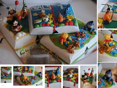 A disney book cake I made for 1 year old Nal. It came out so great:D