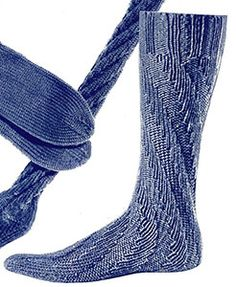 b33eec81a Spiral Sock knit pattern originally published in Knit for Defense