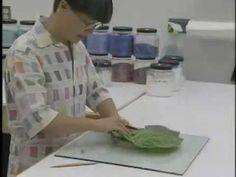 Pâte de Verre - Powdering glass - Vidrio en polvo aplicado con distintos colores