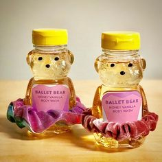 Honey Vanilla scented bear with scrunchie tutu. Dance Teacher Gifts, Dance Gifts, Honey Bear Bottle, Ballet Crafts, Bear Crafts, Glossy Makeup, Body Wash, Bath And Body, Vanilla