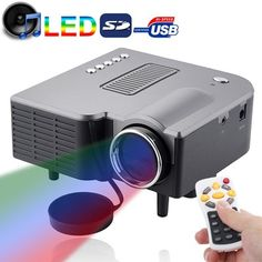 50 ANSI Lumens Portable Multimedia Entertainment LED Projector with Speaker / Remote Control