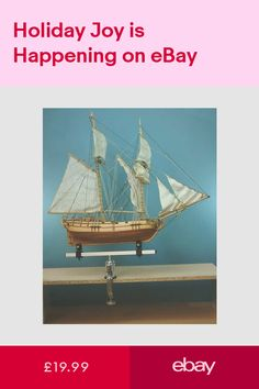 Build Your Own Fishing Boat Wooden Model Ship Blue Dolphine Starter Boat Kit