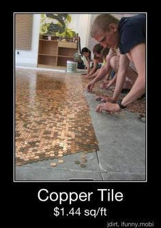 I so want to do this somewhere. Back splash for the outdoor kitchen?