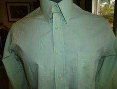 Guy Laroche Mens dress shirt mint green size 15 1/2 34/35 Guy Laroche, Treasure Chest, A Good Man, Dress Shirt, Groomsmen, Mint Green, Baby Items, Fashion Outfits, Mens Tops