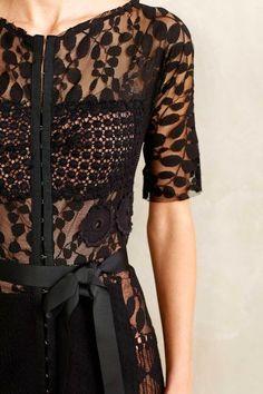 A CUP OF JO: Lacy black dress
