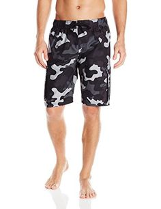 Introducing Kanu Surf Mens Camo Swim Trunks Black Large. Get Your Ladies Products Here and follow us for more updates!